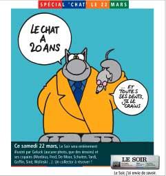 Le Chat Souffle Ses 20 Bougies Dans Le Journal Le Soir Actuabd