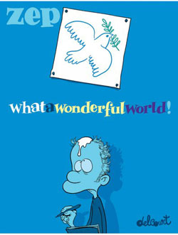 "Zep et ""What a Wonderful World !"" reçoivent le premier Prix Wolinski de la BD du Point 2015"