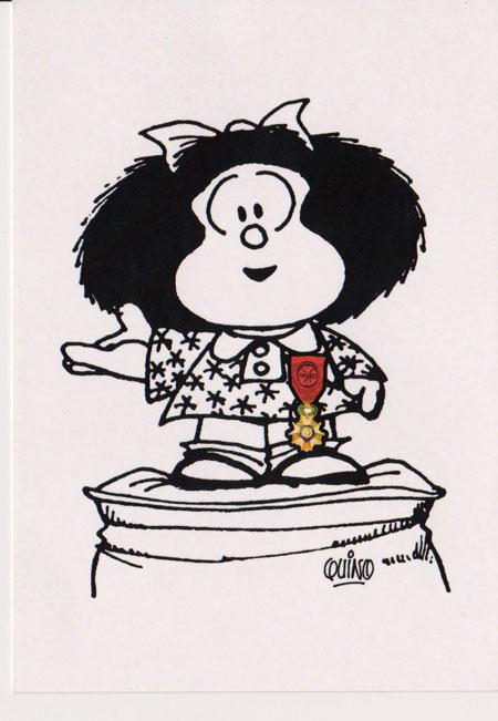 l gion d honneur pour quino et mafalda au salon du livre de paris actuabd. Black Bedroom Furniture Sets. Home Design Ideas