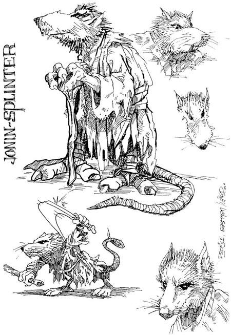 La fantastique histoire des tortues ninja 3e partie - Le rat des tortue ninja ...