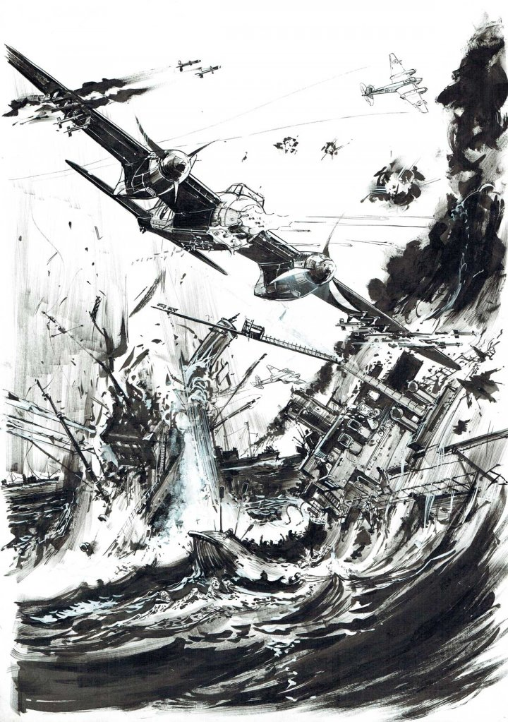 Exposition-vente Keith Burns - Aviation Seconde Guerre mondiale - Galerie Comic Art Factory Bruxelles